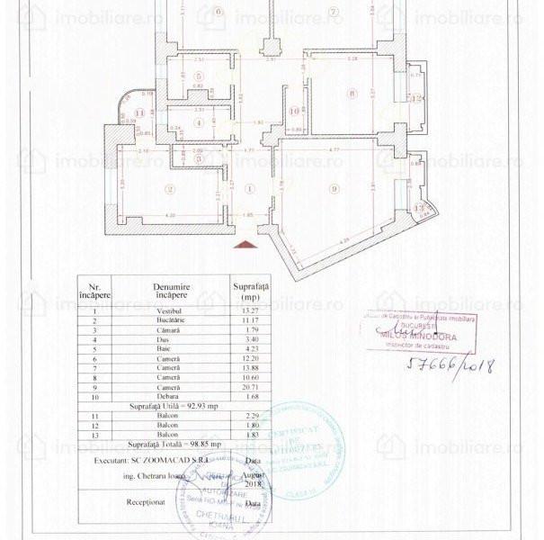 Apartament deosebit de 4 camere cu vedere la Fantani