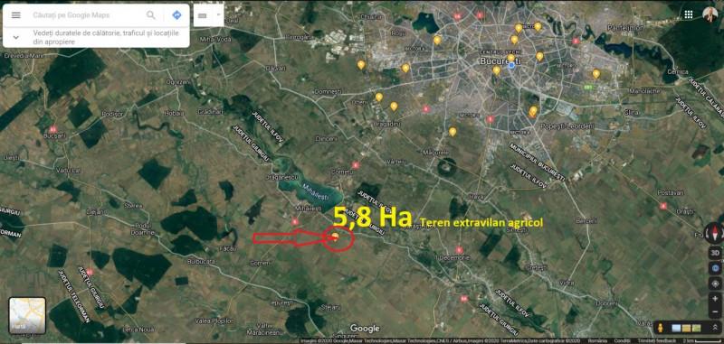 Teren extravilan mihailesti- jud. giurgiu 58.000 mp
